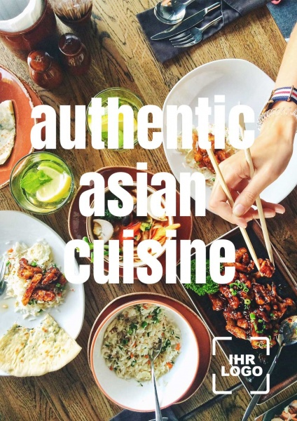 Poster authentic asian cuisine