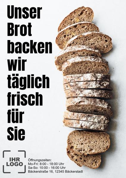 Poster Bäcker täglich frisch 50x70 cm