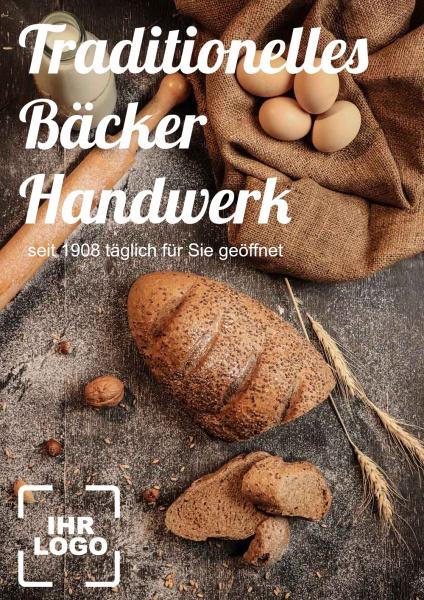 Poster Traditionelles Bäcker Handwerk