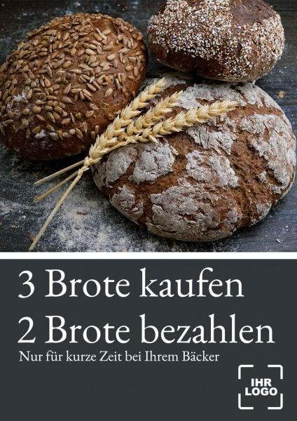 Poster Bäcker Angebot