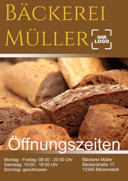 Poster Bäckerei