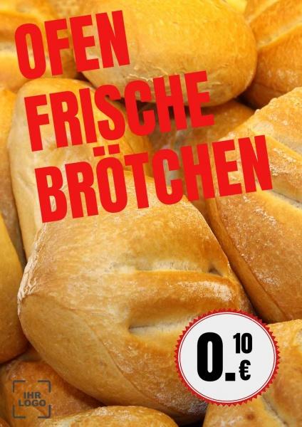 Poster Brötchen Angebot 50x70 cm