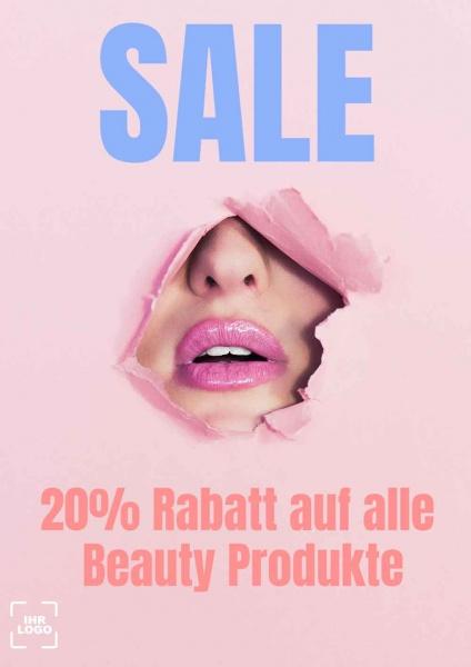 Poster Beautysalon Sale