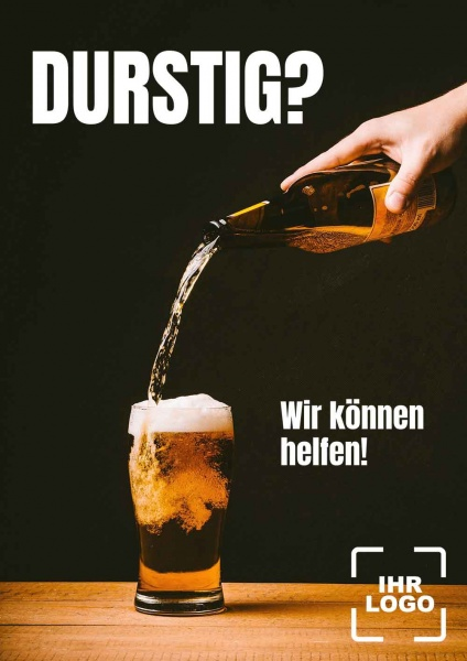 Poster Bier Durstig