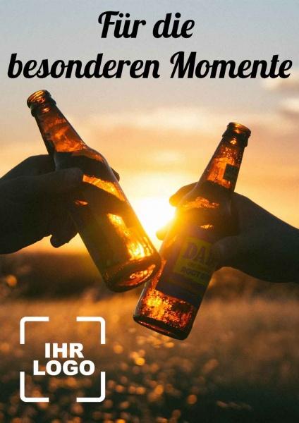 Poster Bier besondere Momente 50x70 cm