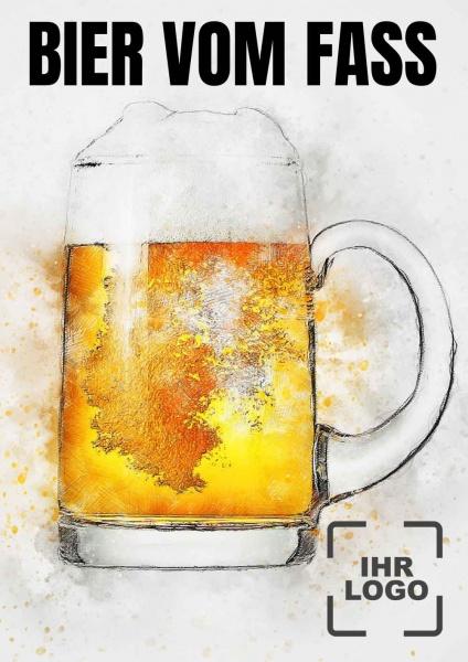 Poster Bier vom Fass