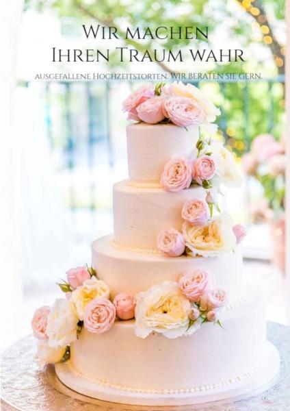 Poster Hochzeitstorte
