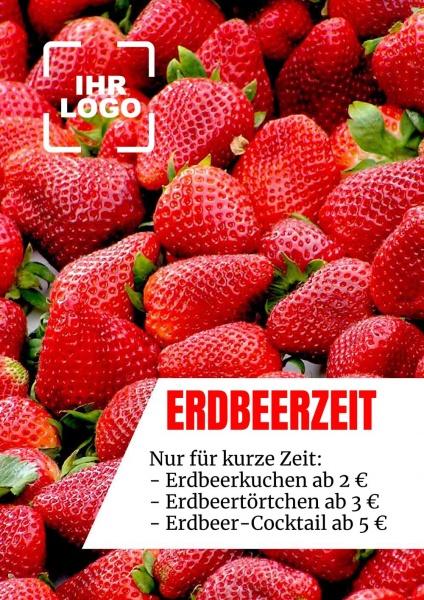 Poster Erdbeerzeit