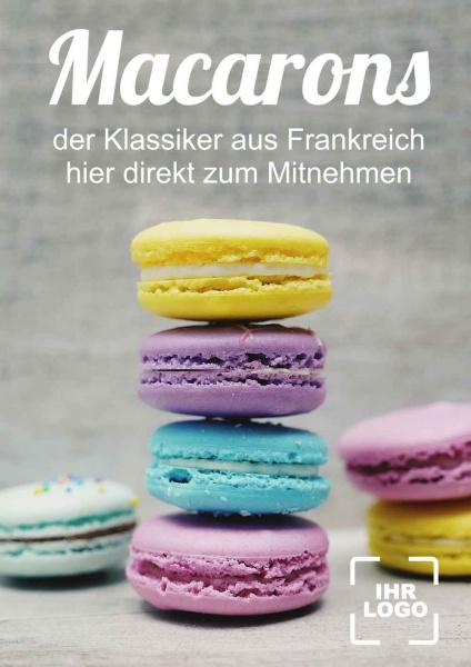 Poster Cafe Macarons