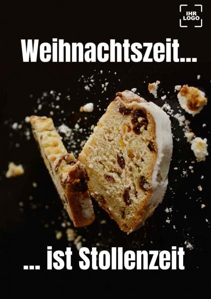 Poster Cafe Stollenzeit