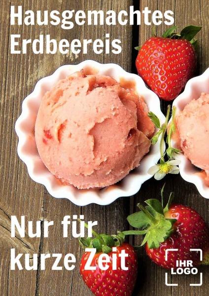 Poster Erdbeereis