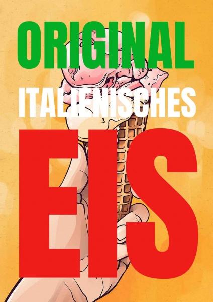 Poster original italienisches Eis