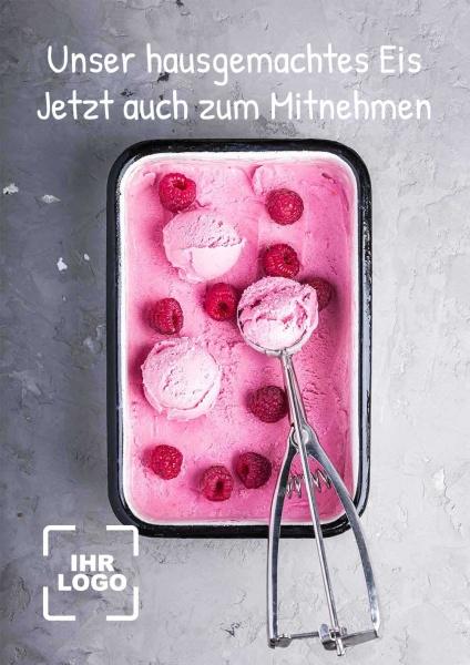 Poster hausgemachtes Eis