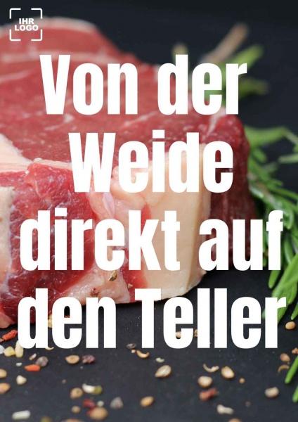 Poster Fleisch Weide