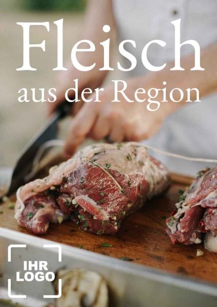 Poster Fleisch aus der Regiom