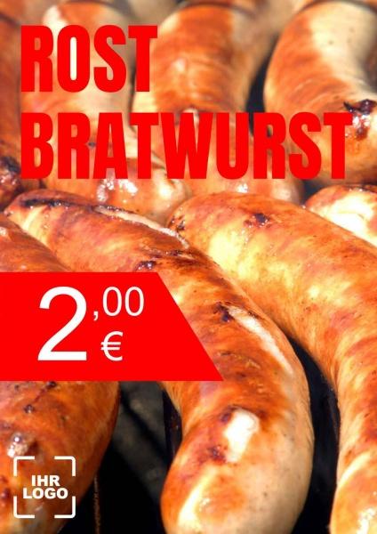 Poster Rost Bratwurst