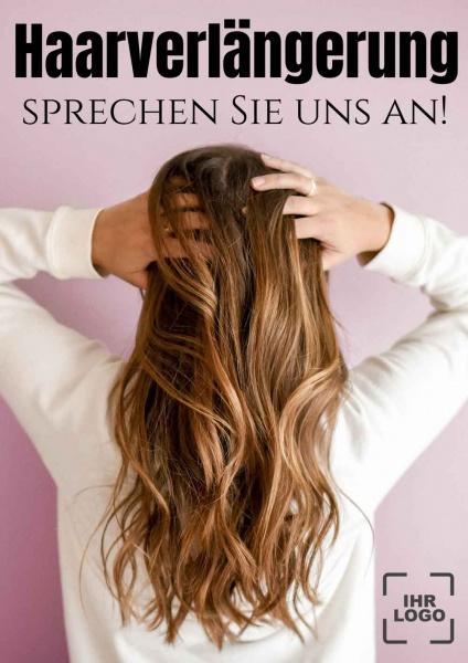 Poster Friseur Haarverlängerung
