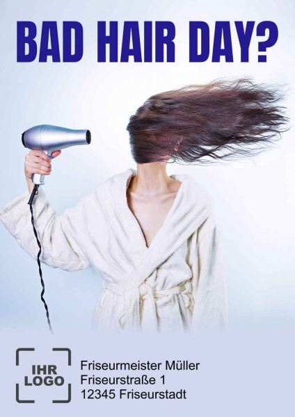 Poster Friseur Bad Hair day