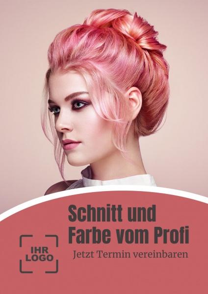 Poster Friseur Schnitt und Farbe