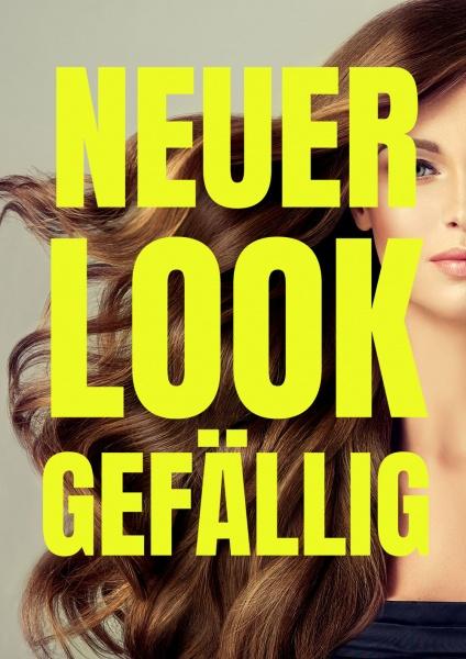 Poster Friseur neuer Look