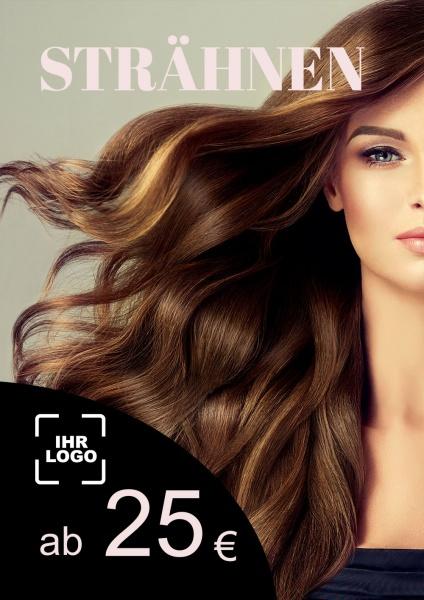Poster Friseur Strähnen