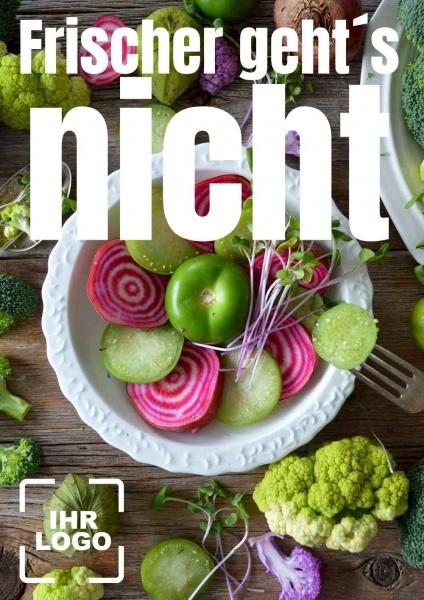 Poster Gemüse frischer gehts nicht