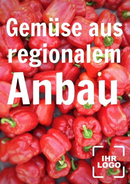 Poster Gemüse regionaler Anbau
