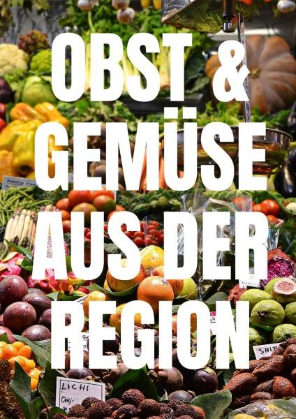 Poster Gemüse aus der Region