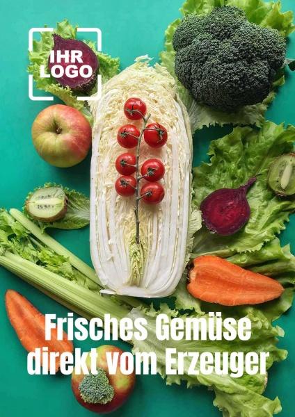Poster Gemüse vom Erzeuger