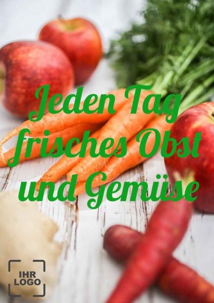 Poster Gemüse jeden Tag frisch 50x70 cm