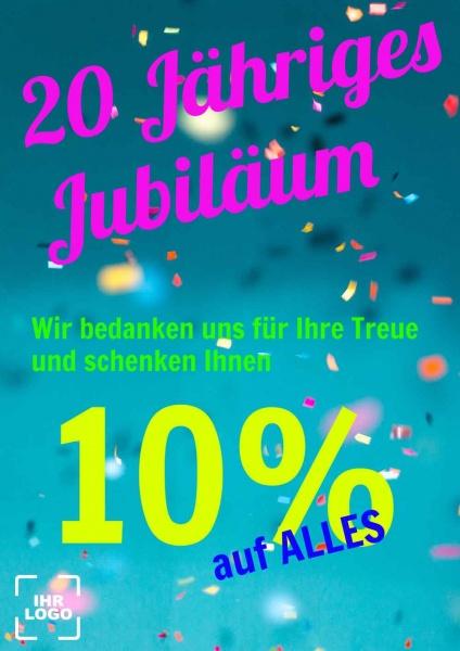 Poster Promotion Jubiläum