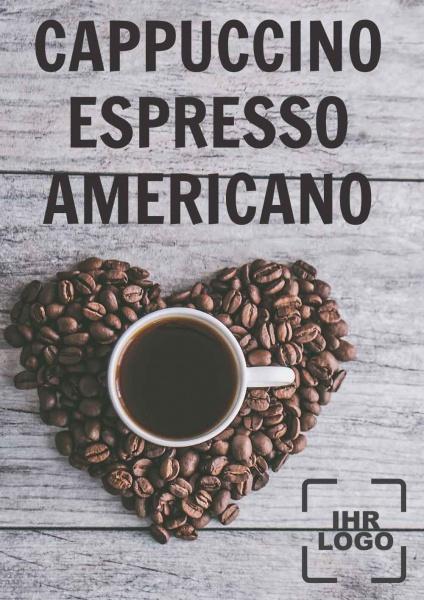 Poster Kaffee Karte