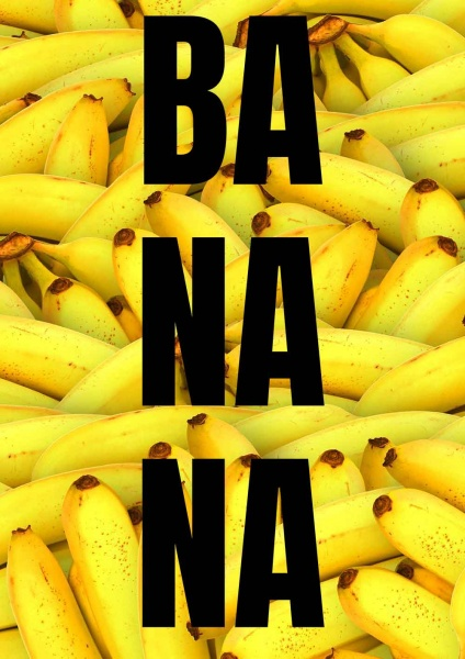 Poster Banana 50x70 cm