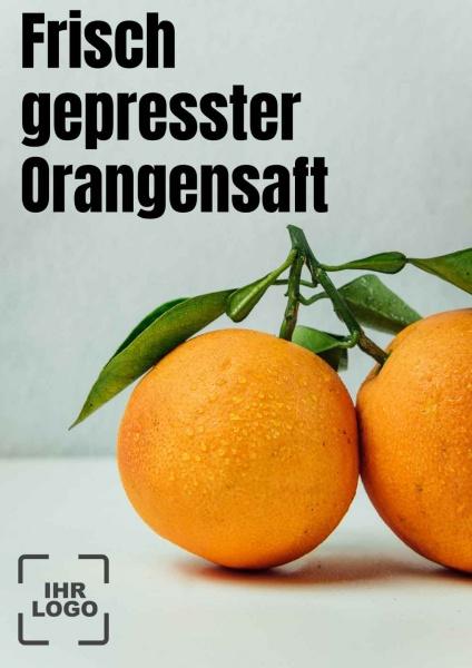 Poster frisch gepresster Orangensaft