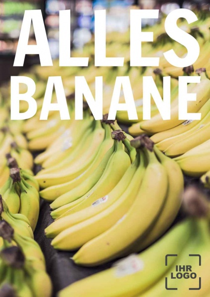 Poster Alles Banane