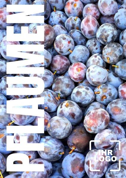 Poster Obst Pflaumen