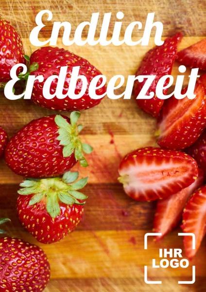 Poster Obst Erdbeerzeit