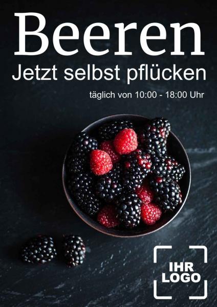 Poster Beeren