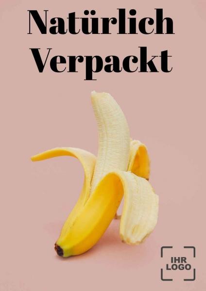 Poster Banane natürlich verpackt