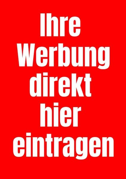 Poster Werbung rot
