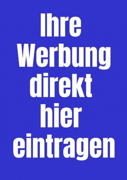 Poster Werbung blau