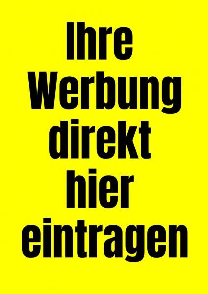 Poster Werbung gelb