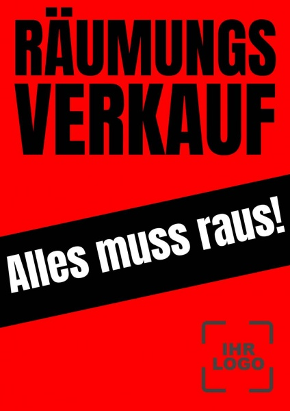 Poster Promotion Räumungsverkauf