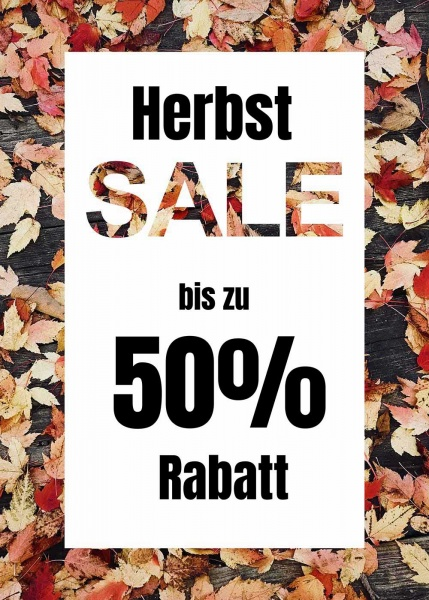 Poster Sale Herbst