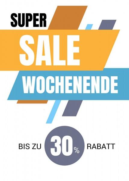 Poster Sale Wochenende