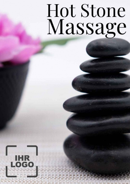 Poster Spa Hot Stone Massage