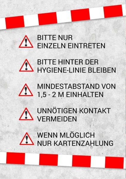 Poster Hygiene-Regeln