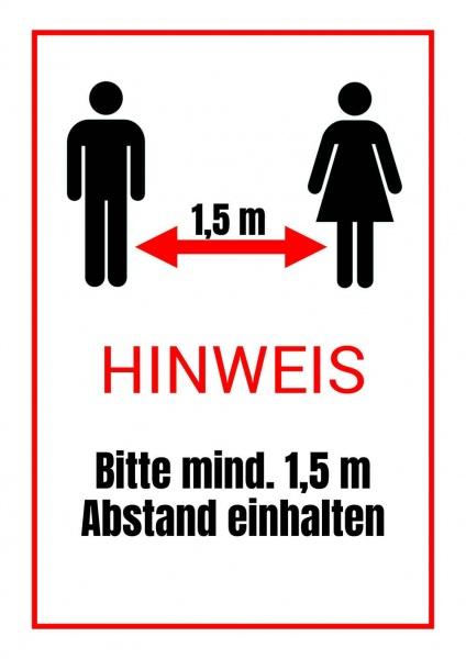 Poster Mindestabstand