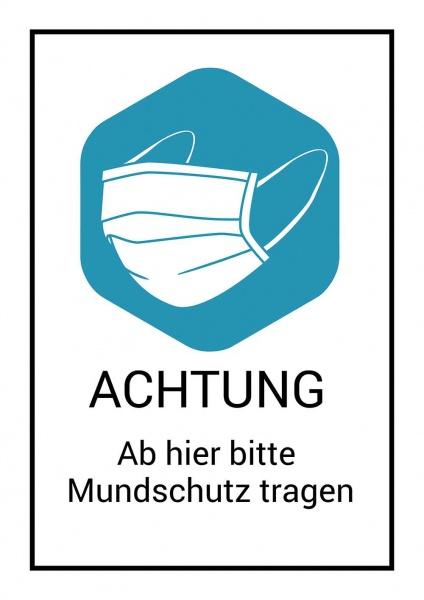 Poster Mundschutzpflicht