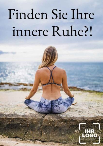 Poster Yoga innere Ruhe
